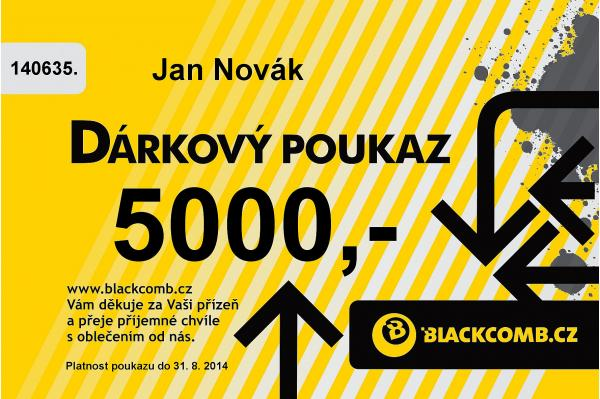 poukázka Blackcomb 5000 - Yellow one size
