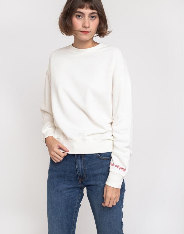 Buffet Crop Sweatshirt Cloud XS