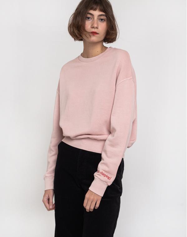Buffet Crop Sweatshirt Rose S