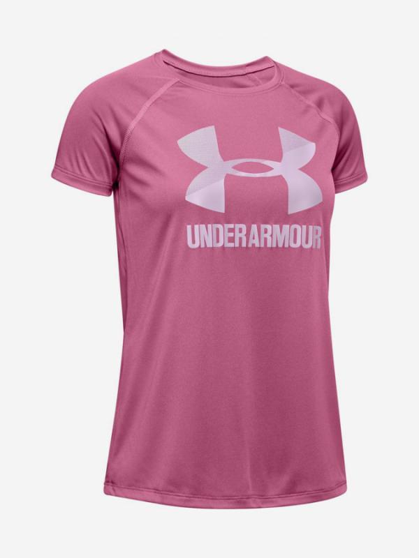 Tričko Under Armour Big Logo Tee Solid Ss-Pnk Růžová