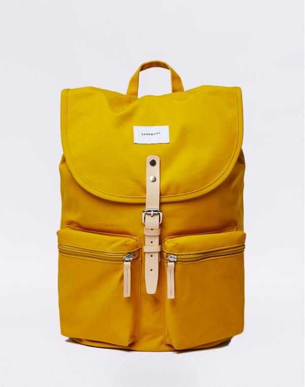 Sandqvist Roald Yellow with Natural Leather