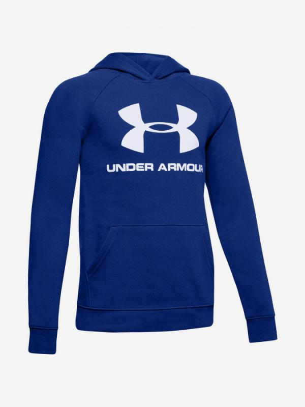 Mikina Under Armour Rival Logo Hoodie-Blu Modrá