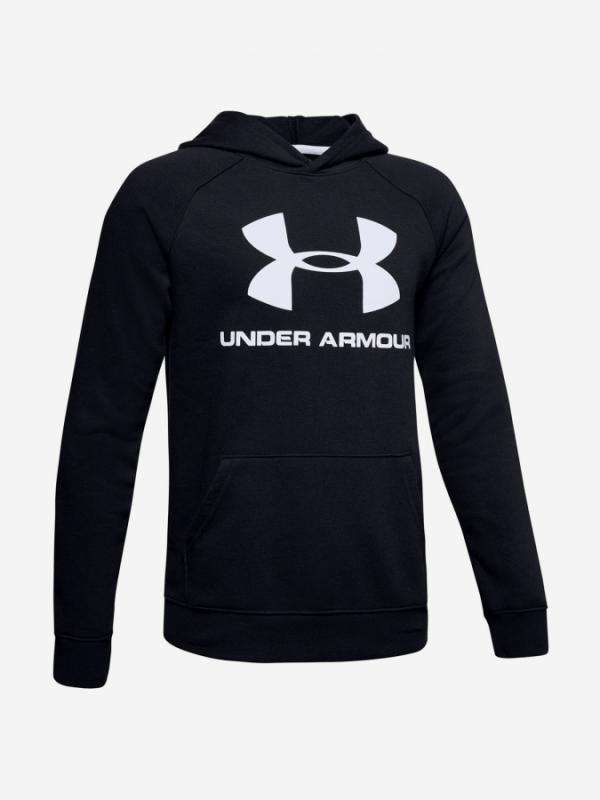 Mikina Under Armour Rival Logo Hoodie-Blk Černá
