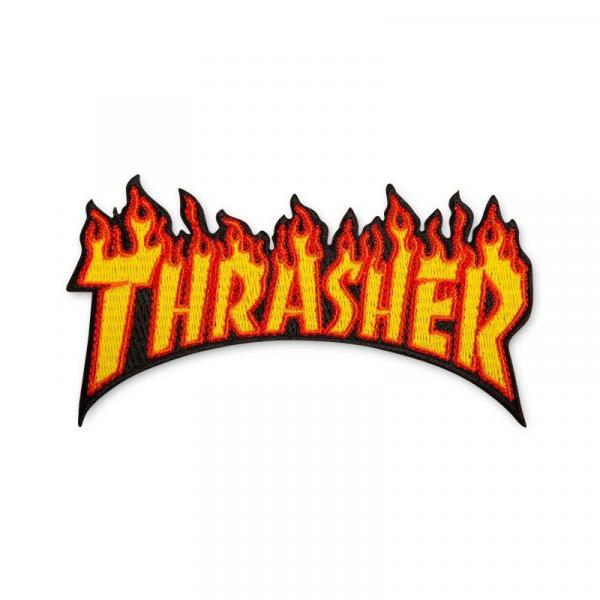 NÁŠIVKY THRASHER FLAME - oranžová