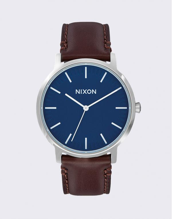 Nixon Porter Leather Navy Brown