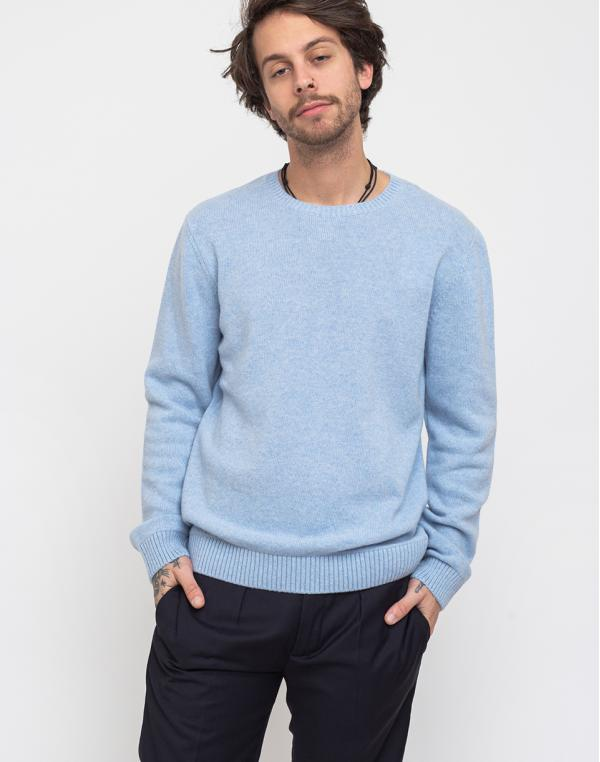 Colorful Standard Merino Wool Crew Polar Blue M