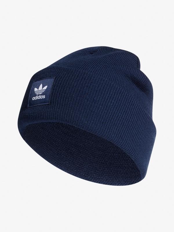 Čepice adidas Originals Ac Cuff Knit Modrá