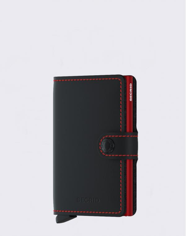 Secrid Miniwallet Matte Black / Red