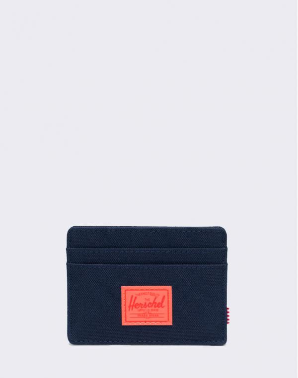 Herschel Supply Charlie RFID Peacoat/ Hot Coral Reflective