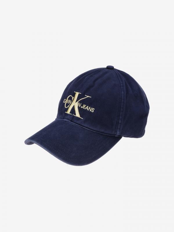 Monogram Kšiltovka Calvin Klein Modrá