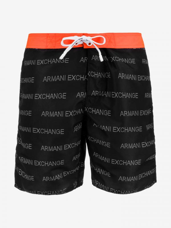 Plavky Armani Exchange Černá