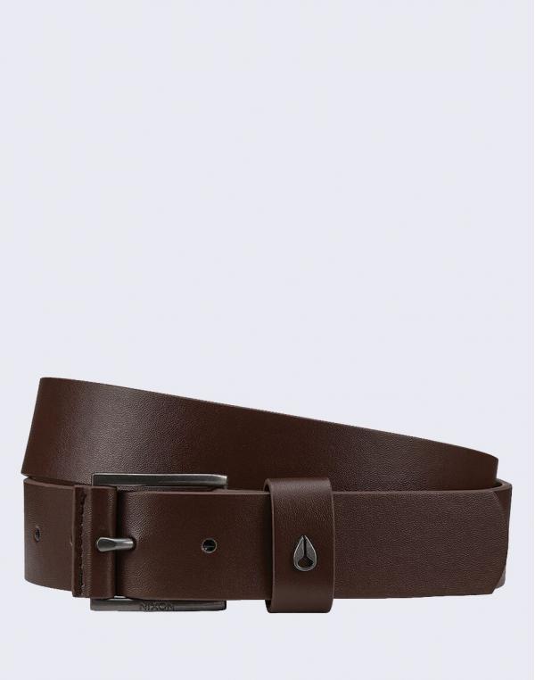 Nixon Americana Leather Belt DARKBROWN S