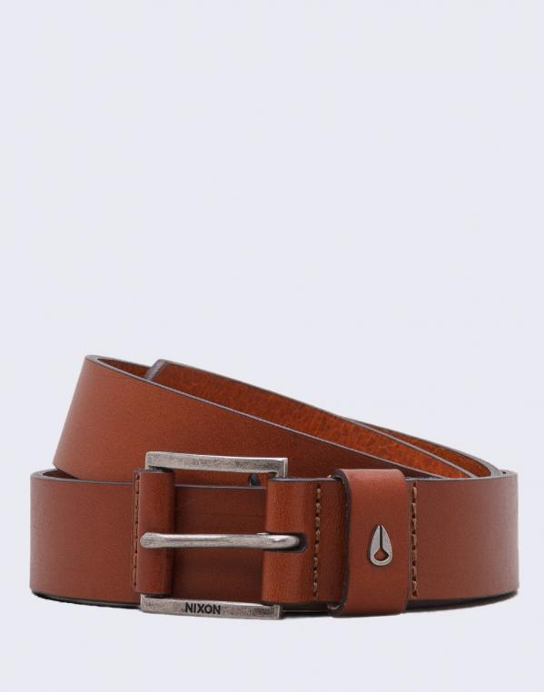 Nixon Americana Leather Belt SADDLE S