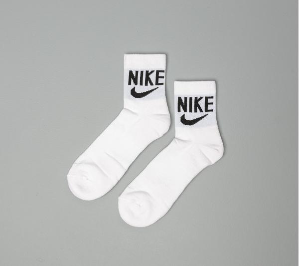 Nike Heritage 2 Pair Ankle Socks White/ Black