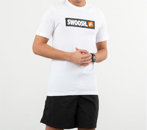 Nike Sportswear Swoosh Bumper Sticker Tee White/ White