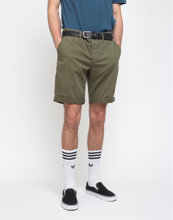 By Garment Makers The Organic Chino Shorts Oil Green S