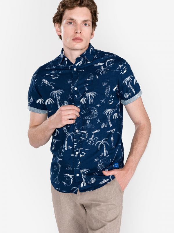 Ryan Košile Jack & Jones Modrá