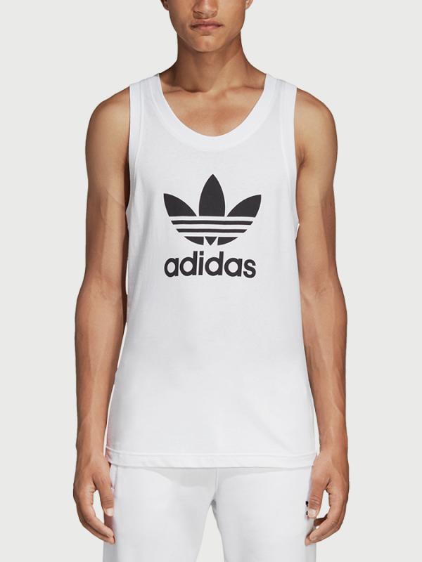 Tílko adidas Originals Trefoil Tank Bílá