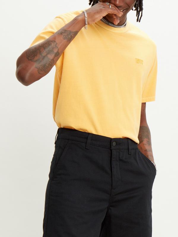 Tričko LEVI'S Authentic Crewneck Tee Golden Apricot Žlutá