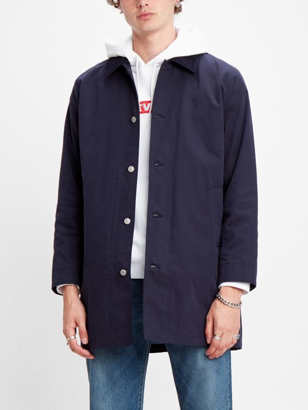 Košile LEVI'S Long Utility Coat Nightwatch Blue Modrá