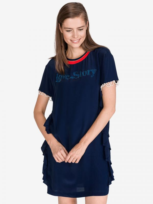 Lantana Šaty Pinko Modrá