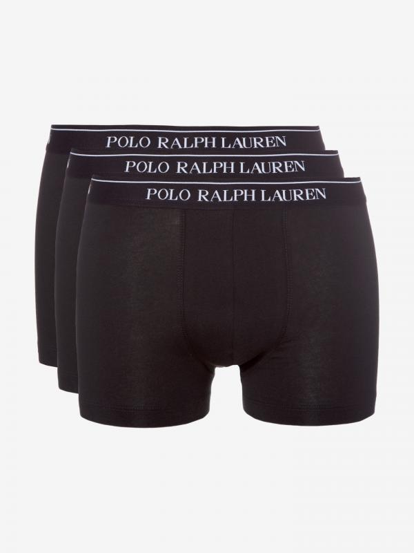 Boxerky 3 ks Polo Ralph Lauren Černá