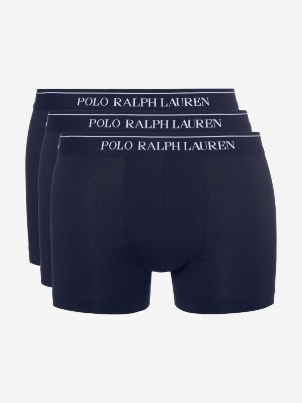 Boxerky 3 ks Polo Ralph Lauren Modrá