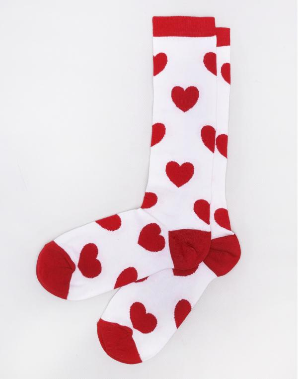 Lazy Oaf Love Me Do Socks White