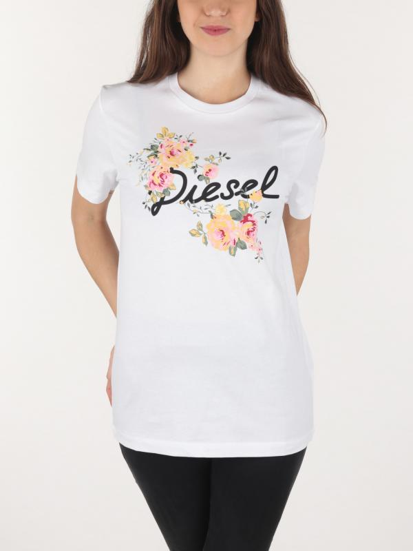 Tričko Diesel 90-Flavia-Flower Maglietta Bílá