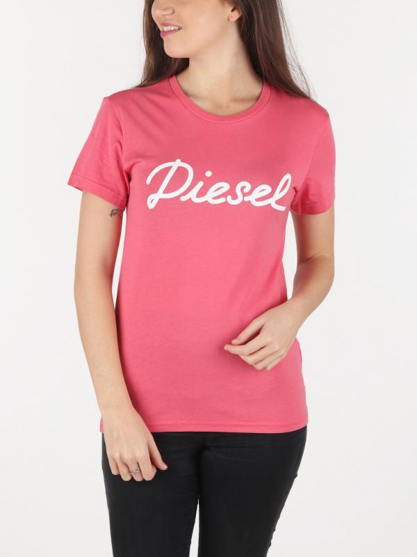 Tričko Diesel T-Sully-Ah-B Maglietta Růžová