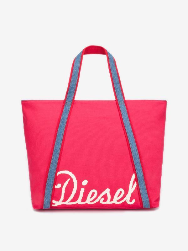 Taška Diesel Canvas Jp Canvas Bag Jp L Červená