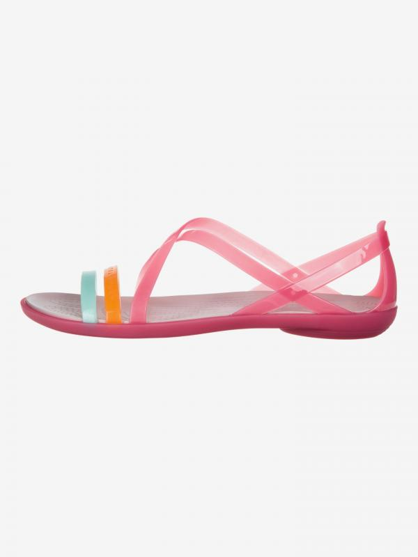 Isabella Cut Strappy Sandále Crocs Růžová