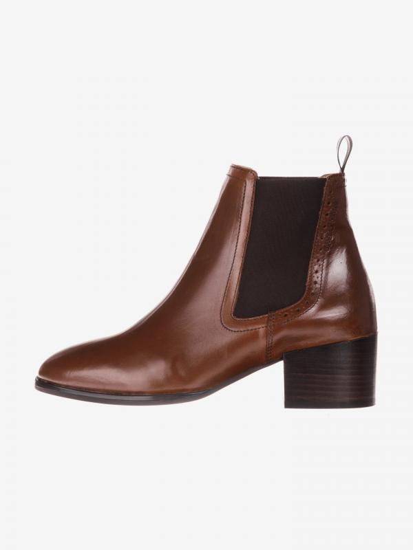 Kotníková obuv Marc O'Polo Hnědá