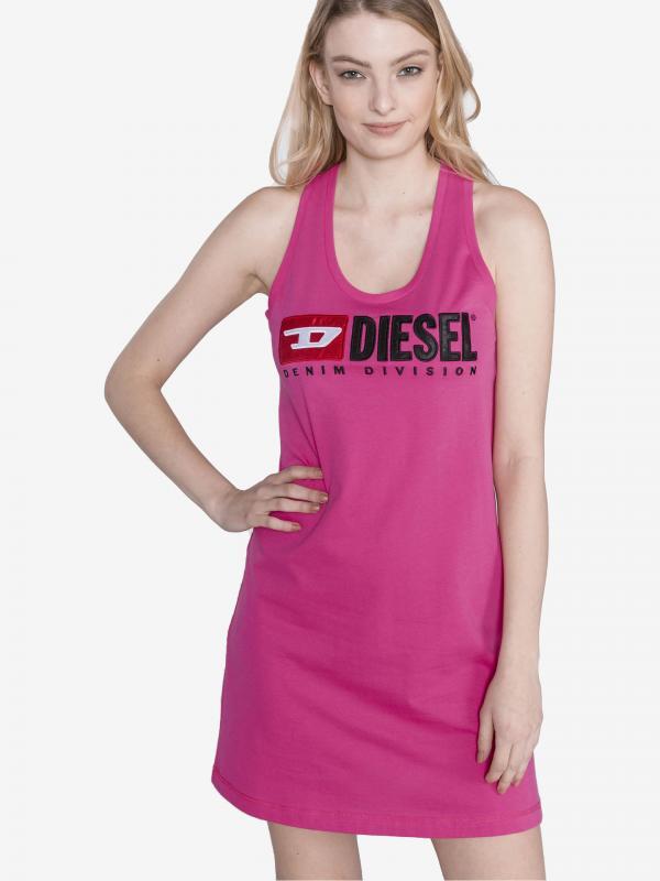 T-Silk Šaty Diesel Růžová