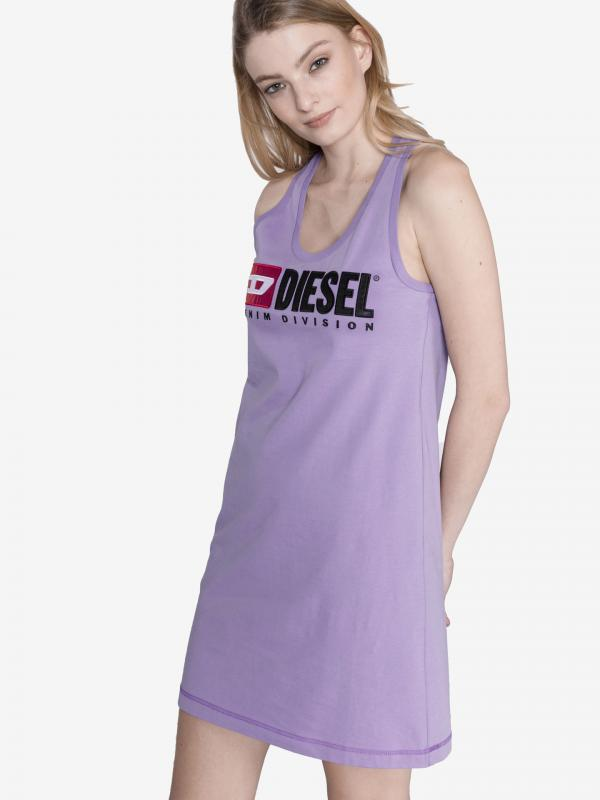 T-Silk Šaty Diesel Fialová