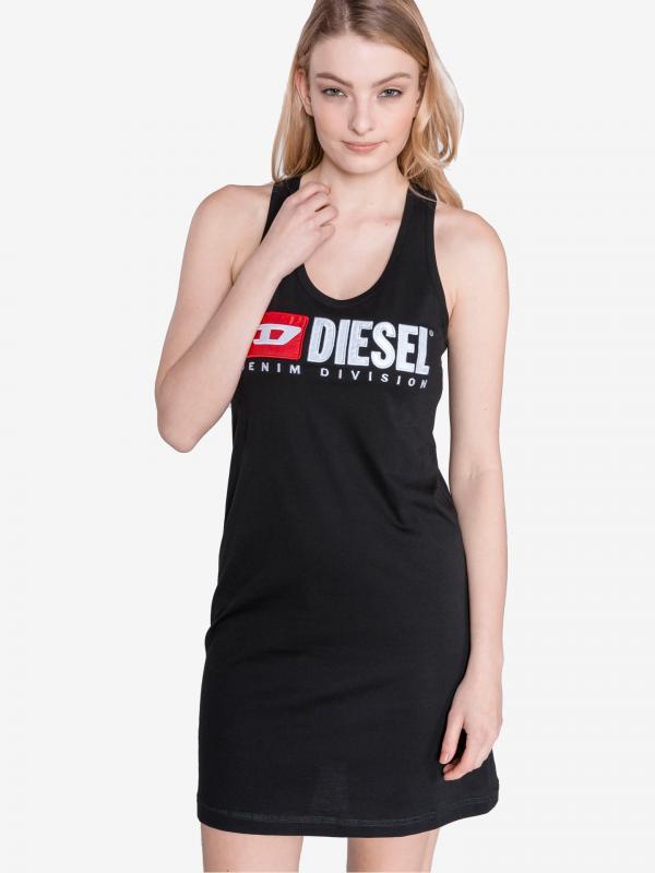 T-Silk Šaty Diesel Černá