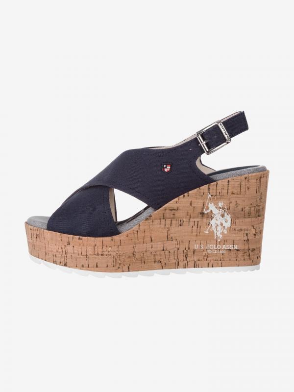 Theba Klínová obuv U.S. Polo Assn Modrá