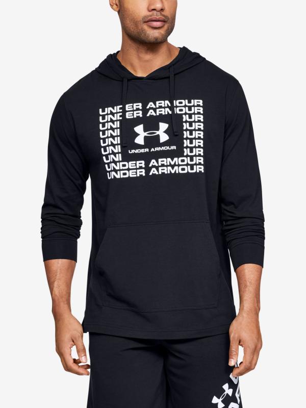 Mikina Under Armour Sportstyle Cotton Hoodie-Blk Černá