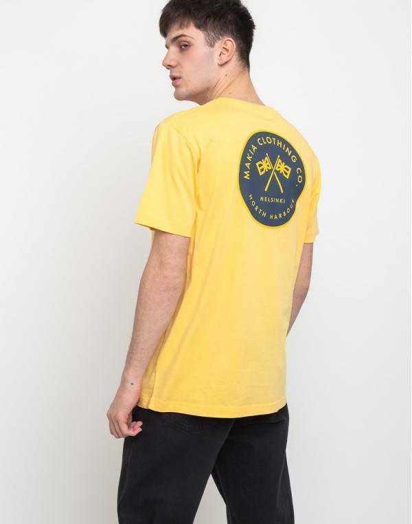 Makia Pursuit T-Shirt Yellow S