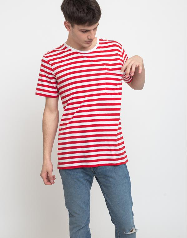 Makia Verkstad T-Shirt Red-White L