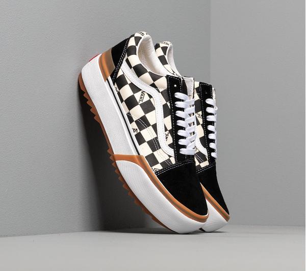Vans Old Skool Stacked (Checkerboard) Black/ True White