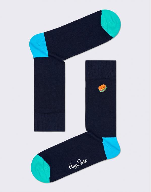 Happy Socks Embroidery Hamburger BEHA01-6500 36-40