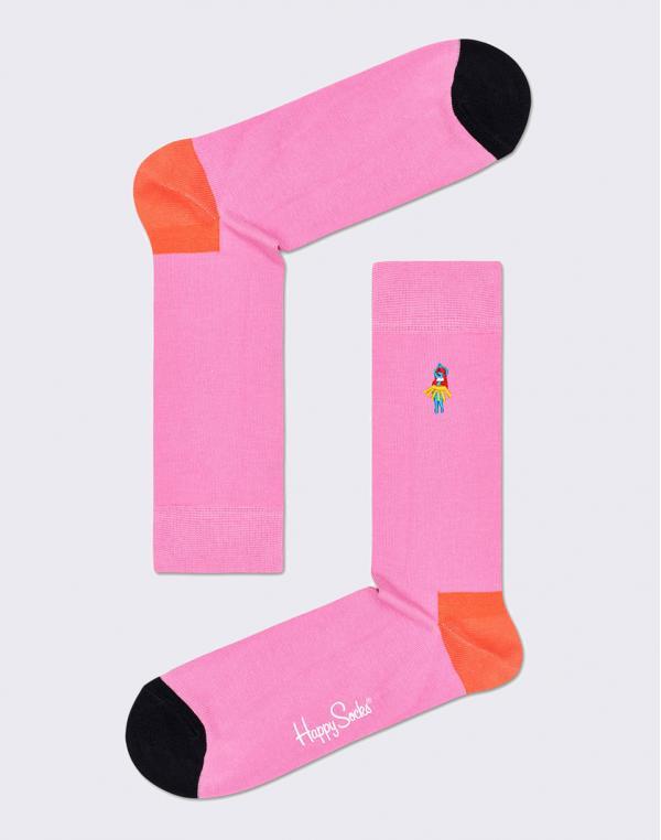 Happy Socks Embroidery Hula Dancer BEHD01-3300 36-40