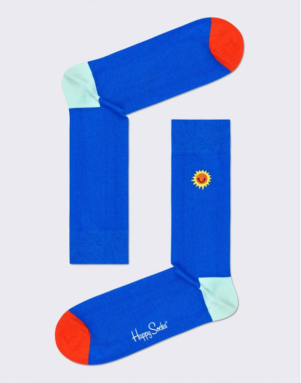 Happy Socks Embroidery Sunny Smile BESS01-6300 36-40