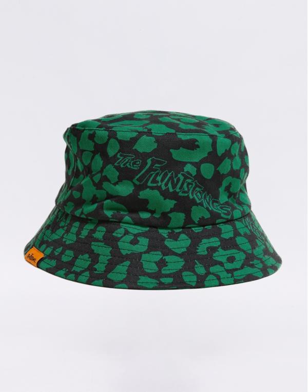 Lazy Oaf Flintstones Dino Leopard Bucket Hat Green/ Black