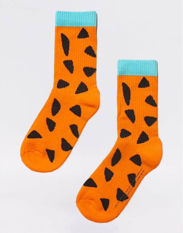 Lazy Oaf Flintstones Fred Socks Orange