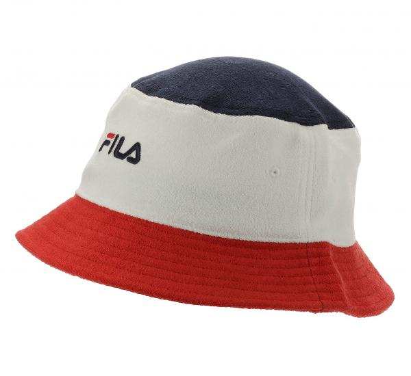klobouk Fila Blocked Bucket Hat - Blanc De Blanc/True Red/Black Iris one size