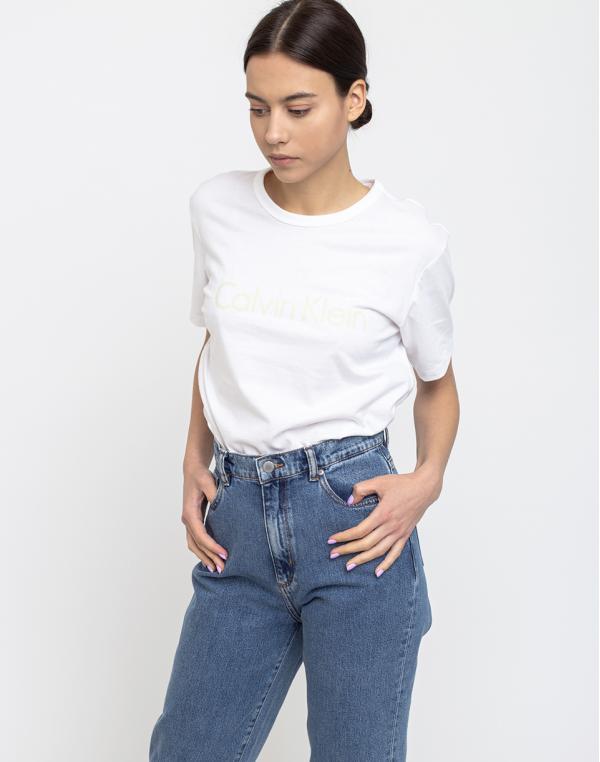 Calvin Klein S/S Crew Neck Wpz White/Pale Moss M