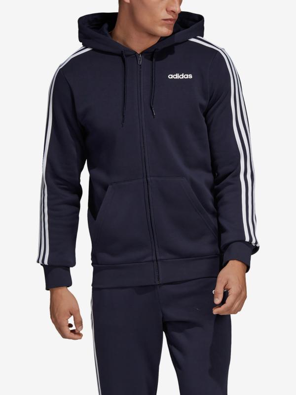 Mikina adidas Performance E 3S Fz Fl Modrá