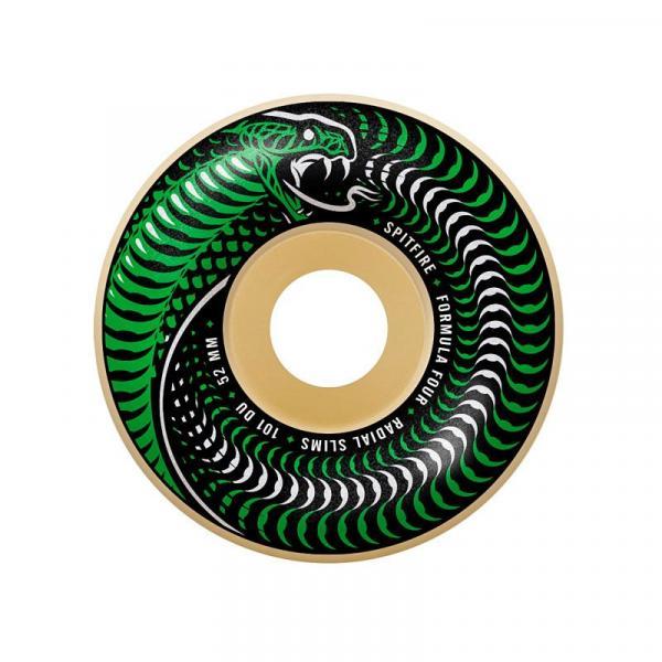 SK8 KOLA SPITFIRE F4 101 VENOMOUS RADIAL - zelená